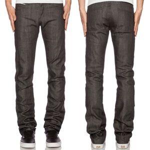 Revolve Naked & Famous Denim Skinny Guy Grey Jeans